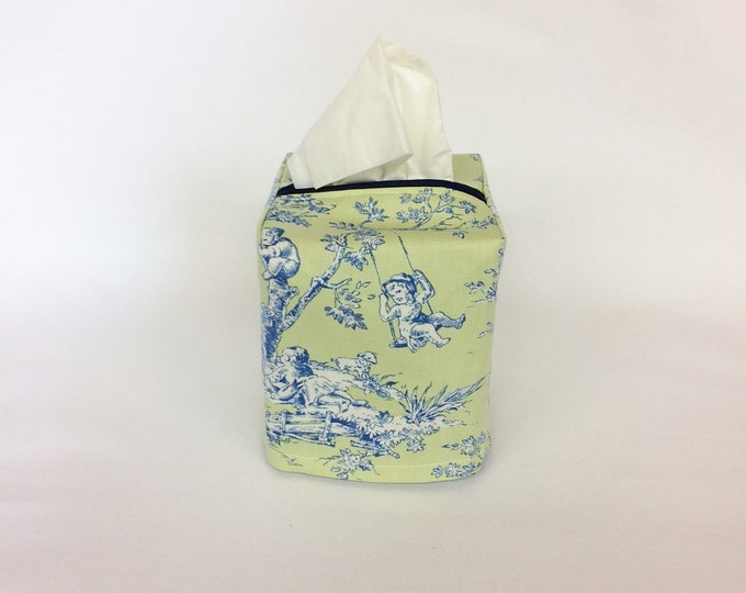 Tissue Box Cover, Tissue Box Holder, French Country Decor, Living Room Decor, Room Decor,