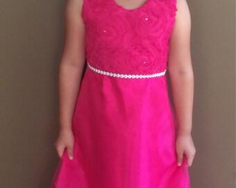 Speical occaian fuchsia dress for girl