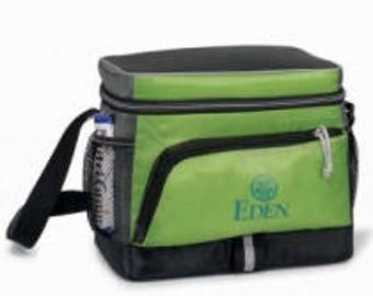 Personalized Insulated Black/Gray/Green Lunchbag