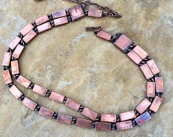 Vintage Renoir Copper Double Strand Necklace