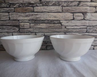 Pair of vintage French cafe' au lait bowls Arcopal