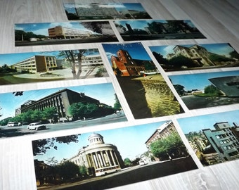 Soviet vintage postcards - City postcards - Old city photography - Travel postcards - USSR vintage postcard set - Lithuania photography