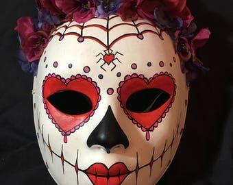 Heart Sugar Skull Mask