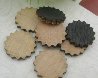 10 pcs -16mm Laser  Wood Cut  Charms,Wooden(WL-11)
