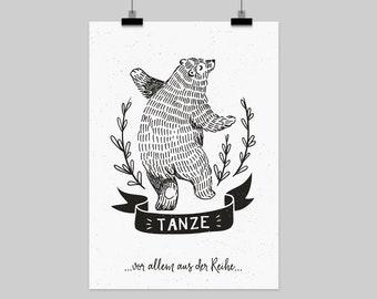 "fine-art print ""Tanze aus der Reihe"" german pun"