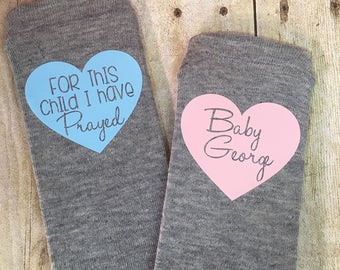 Personalized Fertility Socks, For This Child I Have Prayed, IVF, IUI, Motivational Socks, Think Positive