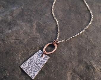 Voila Short Necklace  ~ Fern Leaf
