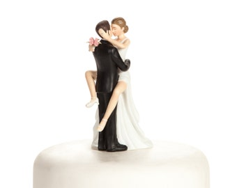 Funny Sexy Wedding Cake Topper - Custom Painted Hair Color Available - 706505