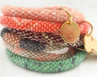 Five Bracelet Stack in Mix and Match