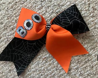 Cheer Bow Halloween Fall Boo Bling