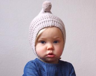 Pixie bonnet crochet pattern pdf baby bonnet diy instant knitting pattern pdf file knit pixie bonnet pattern baby bonnet pattern hat pattern dt1010fo