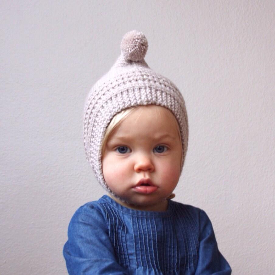 KNITTING PATTERN PDF File Knit Pixie Bonnet Pattern Baby
