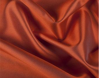 Orange Silk/Wool Gab, Fabric By The Yard