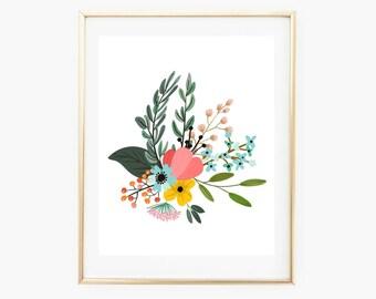 Nursery Watercolor, Nursery Prints, Nursery Decor Girl, Baby Shower, Floral Printable, Nursery Prints Girl, Floral Art Print, Boho Nursery