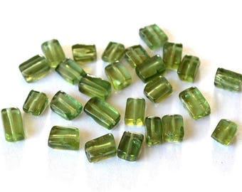 Very nice set of 3 green Apatite beads