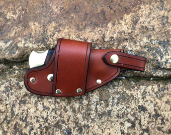 Buck 112 Ranger - Quick Draw Knife Sheath - Chestnut
