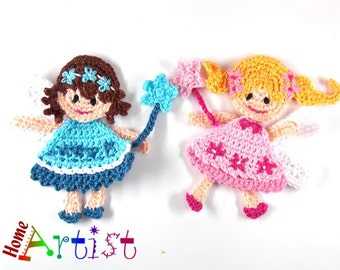 Fairy Crochet Applique
