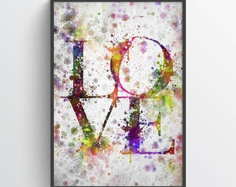 Love Poster, Love Print, Love Art, Love Home Decor, Love Decor, Home Decor, Gift Idea