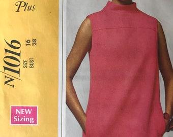 Designer 1960's Dress Pattern by Larry Aldrich---McCalls 1016---Size 16 Bust 38