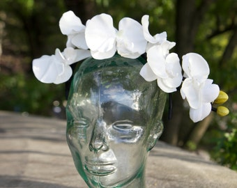 Orchid Flower Crown Headband Hair Accessory