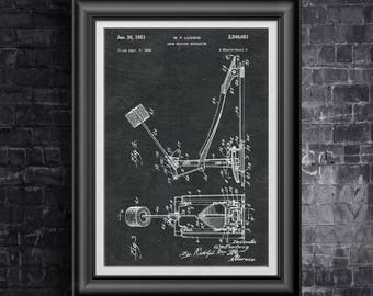 Ludwig Drum Pedal Beating Mechanism Patent Drummer Print Percussion Wall Art Drummer Art Gift for Percussionist Gift 4 Music Lover PP 5038