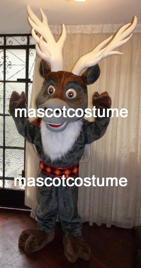 & New Special sven frozen reindeer Mascot Costume olaf figure