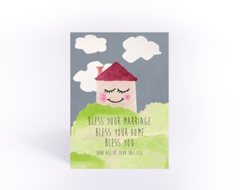 Wedding Card: Bless Your Marriage and your sneezes