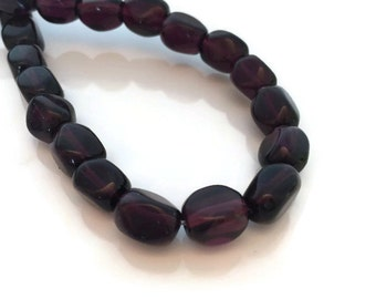 Rectangular Four Sided Garnet Beads