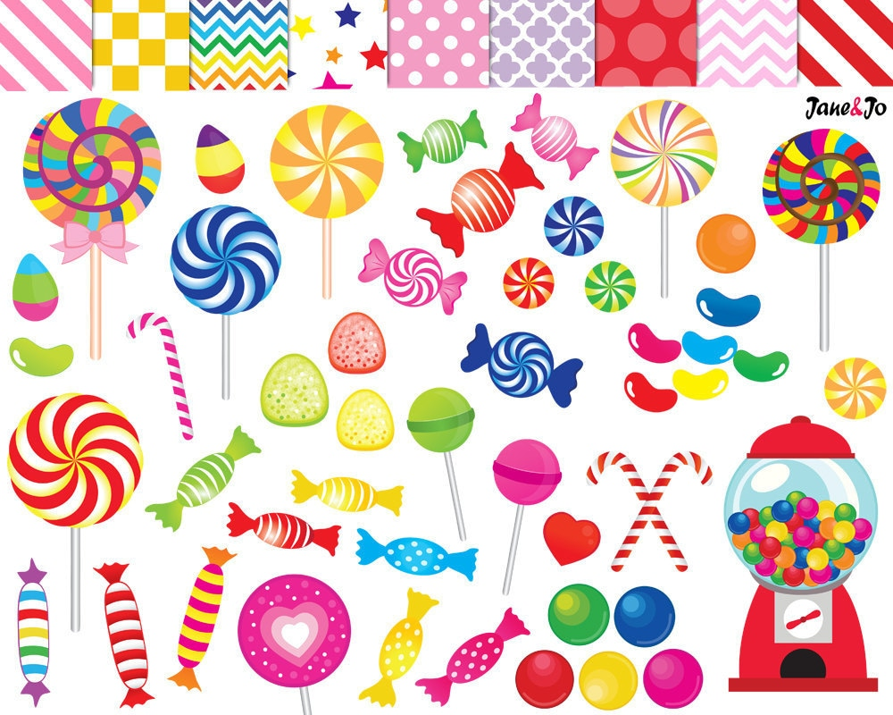 52 candy clipart candy clip art printable lollipop clipart rainbow candy candy graphics gumball