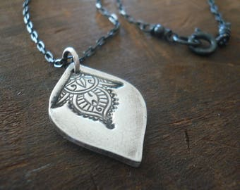Noceur Necklace - Handmade. Oxidized Fine and Sterling Silver