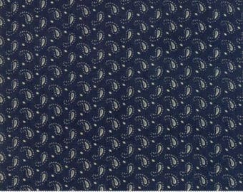 Ann's Arbor Navy LIttle Paisley 14847 14 by Minick & Simpson for Moda