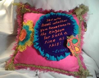 Scripture Pillow Esther!