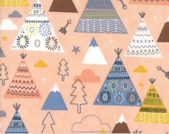 Moda Fabric - Wild and Free Rosie 35312 14 by Abi Hall - Quilt, Quilting, Crafts, Teepee