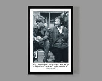 Movie Quote Poster - Good Will Hunting Movie Poster Print - Inspirational, Motivational, Classic, Powerful, 90's, Indie Drama