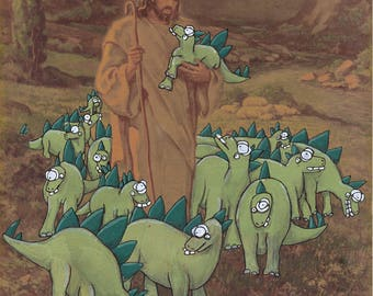 Jésus et son impression de beau stégosaures 8.5 x 11
