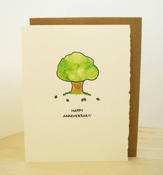 Happy Anniversary! Love greeting card cute adorable paper made in Canada snail mail stationery romance love oak acorn
