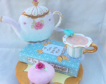 Customize This Cake Topper  Tea Party -  Southern Belle Tea Party Cake Topper