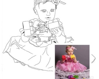 Custom colouring pages from your photo