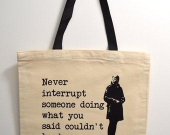 Amelia Earhart tote bag, History Tote Bag, Novelty Tote Bag, tote bag, tote gift, nerd gift, canvas tote bag, Amelia Earhart, quote tote bag