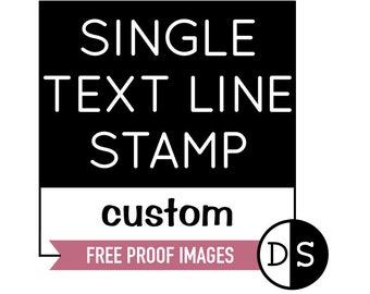 Single Line Stamp, Personalised Stamp, Handmade Business Stamp, Business Logo Stamp, Website Stamp, Social Media Stamp, Custom Stamp