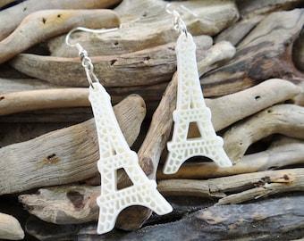 White Eiffel Tower Earrings Kawaii France Paris French Ooh La La Earring Ear Ring Rings