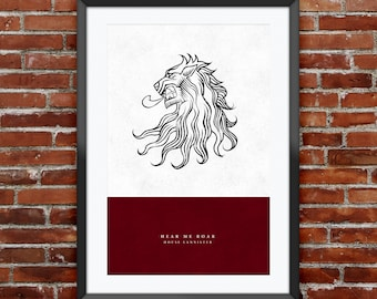 """Game of Thrones - House Lannister print 11X17"""""""