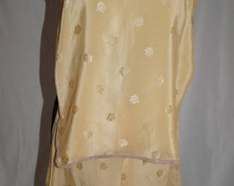 Pre War Silk Camisole and French Knickers Set