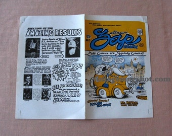 R. Crumb ORIGINAL ZAP Comics No. 1 Cover Proof Apex Novelties Underground