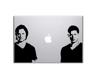 "Sam and Dean Winchester vinyl decal 8"" each - supernatural - Jared Padalecki - Jensen Ackles - Castiel - hunters - demons - crowley - hell"