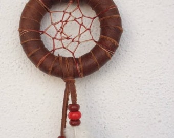 dream catcher  braun and red  ref: DC 140202