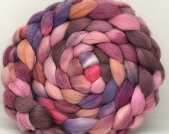 Merino/Baby Alpaca/Tussah 50/30/20 Spinning Fiber - 7.5oz - Roses are Real 2