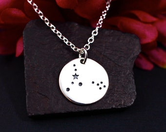 Pisces Constellation Necklace, Pisces Necklace in Sterling Silver, Pisces Jewelry
