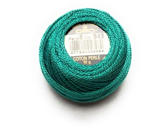 DMC 943 - Medium Aquamarine - Perle Cotton Thread Size 8