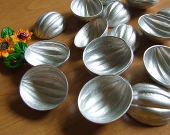 Oreshki. Set 20 Nuts molds. baking soviet. aluminum Form baking Vintage Molds Walnut molds Cookies  Soviet molds. cookie stencils. Nut molds